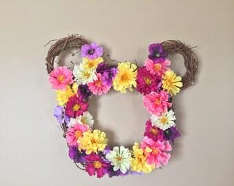 Disney Wreath | Spring Wreath | Mickey Mouse Wreath | Summer Wreath | Disney Flower Wreath |
