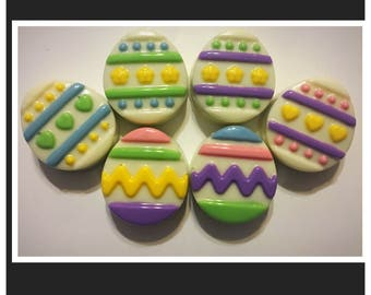 Easter Egg chocolate covered oreos Easter chocolate table decor - Set of 12