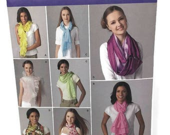 Simplicity 2170 Scarf Pattern, 4 Different Designs, Uncut Sewing Pattern