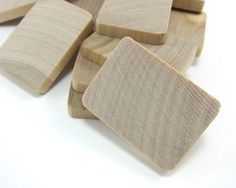 "1-3/8"" Unfinished Wooden Rectangle Tiles (35mm)"