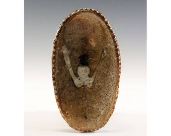 Oval Wood Kiln Fired Pinch Bowl by Jenny Mendes