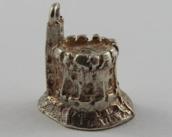 Tower of Windsor Castle Sterling Silver Vintage Charm For Bracelet