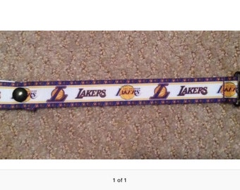 Lakers Pacifier Holder with snap or string