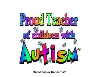 T-shirt - AUTISM Awareness, Proud -- TEACHER -- of children with