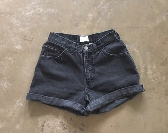 MODA - black denim shorts
