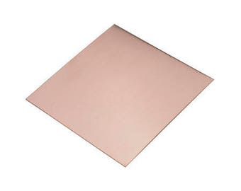 "Copper Sheet 6""x6"" TILE ***18 Gauge"