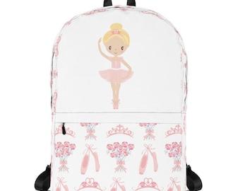 Ballerina Backpack - Ballet Backpack - Back to School - Girls Backpack - School Backpack - Laptop Carrier