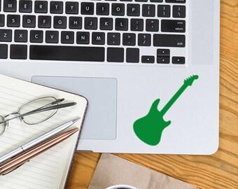 Guitar Sticker, Guitar decal, Vinyl Decals, Music gift, Music decor, Music lesson teacher, small stickers, laptop decal, car window stickers