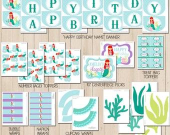 Mermaid Party Decorations | Mermaid Birthday | Mermaid Party Favor | Under the Sea Birthday | 1st Birthday | Amanda's Parties To Go