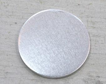 Five 1 1/4 inch Aluminum Discs, 14 Gauge Stamping Blanks