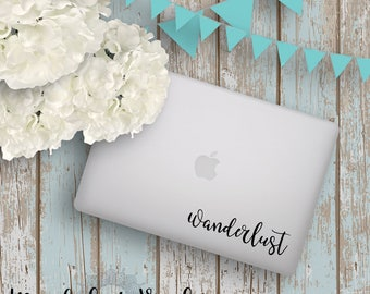 Wanderlust Vinyl Decal | Laptop Vinyl Decal  |  Wanderlust Sticker  |  Boho Vinyl Decal  | Vinyl Sticker | Laptop Decal | Trendy Vinyl decal