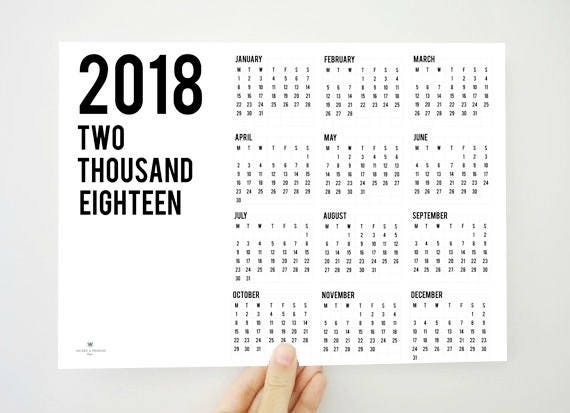 Year On The Top Yearly Calendar  Printable Calendar