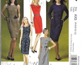McCall's M5927 Fashion Sheath Dress Sewing Pattern 5927 UNCUT Size 4, 6, 8, 10, 12