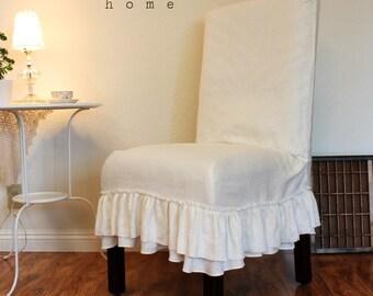 custom chair slip covers in linen