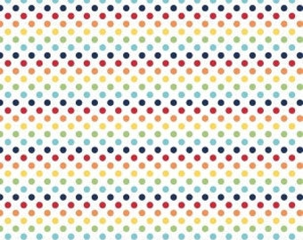 Rainbow Small Dots - Riley Blake Designs - Polka Dots - Primary - Quilting Cotton Fabric - choose your cut