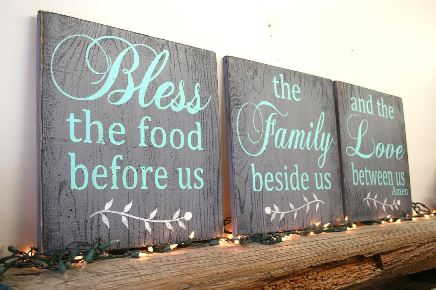 Charmant Bless The Food Before Us Wood Sign Dining Room Sign Kitchen
