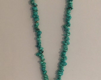 Vintage Turquoise Small Bead Necklace