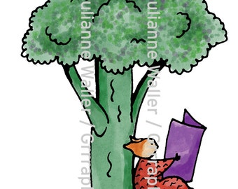 People with Food:  Brocolli Tree clipart