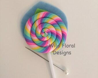 A Lollipop candy buttonhole