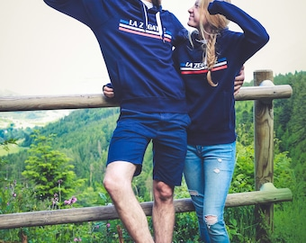 Hoody in blue, white, red the Zegatte