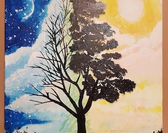 PRINT Watercolor/Acrylic Painting - Polarity of Life