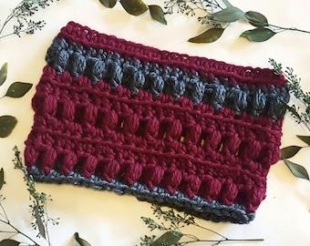 Crocheted Cowl, Tulipa Cowl, Infinity Cowl, Crochet