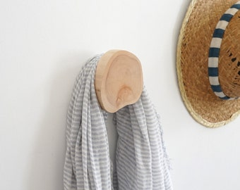 Wall Hooks, Round Wall Branch Hook, Wall Hook (Sanded-No Bark)