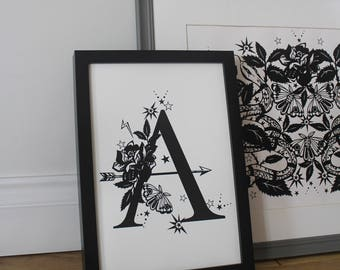 Decorative Typography Alphabet Letter - bespoke available
