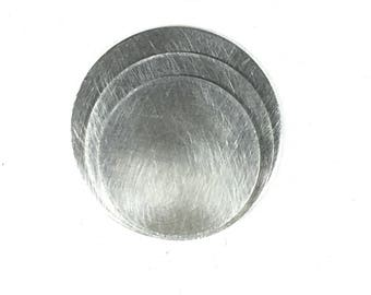 Round Sterling discs, 22 gauge discs, 925 Sterling silver,  jewelry discs, hand stamp discs, choose size