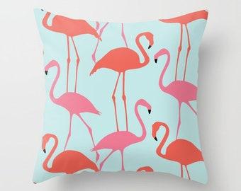Flamingo Pillow  - Flamingo Throw Pillow  - Flamingo Decor - Modern Decor - Beach Decor - Tropical Decor - Aldari Home