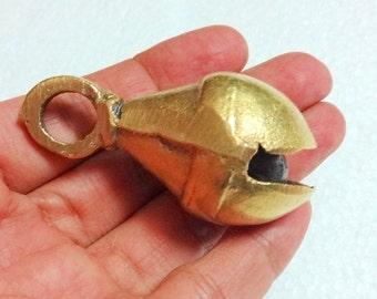 Tear drop Indian Brass Bell, Metal Bells, Gypsy Bells - set of 2  Ethnic  Brass Bells Large