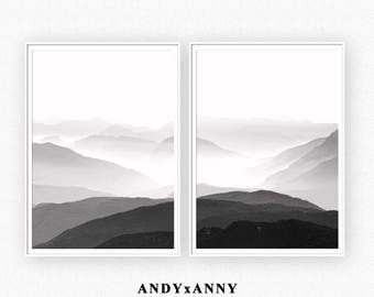 Mountain Photography, Landscape Print, Black and White Print, Mountain Wall Print, Wall Art Printable Mountain, Mountain Photo, Mountain Art