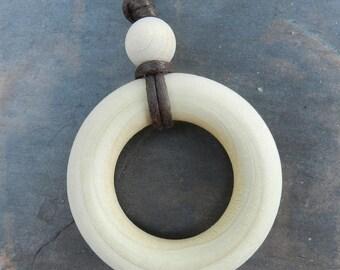 Simple Wood Nursing Teething Necklace
