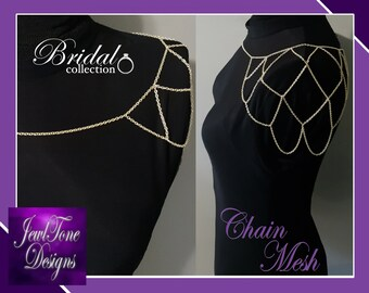 Shoulder Jewelry, Bridal Jewelry, Shoulder Necklace, Bridal Shoulder Chain by Jewltone Designs