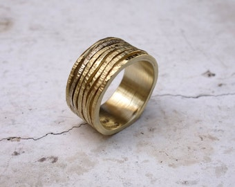Mixed Metal Wedding Ring Gold His and Hers Wedding Rings Unique Wedding Rings Wedding Bands Gold Band Wedding Band Set Gold Wedding Band