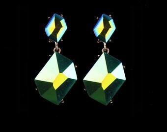 Crystal Charm evening earrings, Statement Earrings