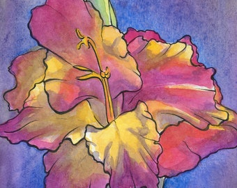 Belle of the Ball - Gladiolus art print
