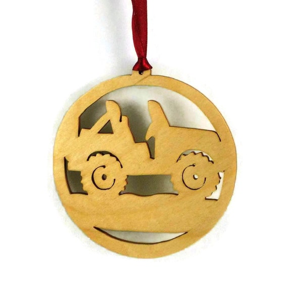 Offroad 4x4 Jeep Christmas Ornament Handmade From Birch Wood