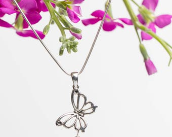Butterfly Blossom Pendant