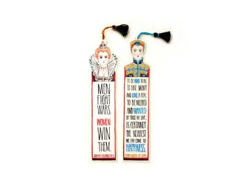 Queen Elizabeth I and Mary Queen of Scots - Tassel Quotation Bookmarks