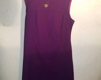 vintage polyester purple dress size 18