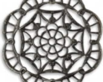 Vintaj 40mm Grand Kaleidoscope Filigree
