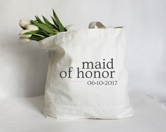 Personalized Maid of Honor Tote Bag, Maid of Honor Bag, Maid of Honor Bag, Matron of Honor Bag, Bridesmaid Tote Bag, Bridal Party Gift