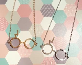 Harry Potter glasses Necklace