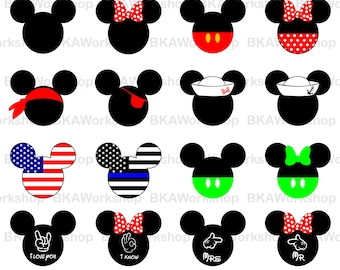 Mickey Head svg - Mickey Head vector - Mickey Head clipart - Mickey Head digital clipart for Design or more,file download svg, png, jpg, png