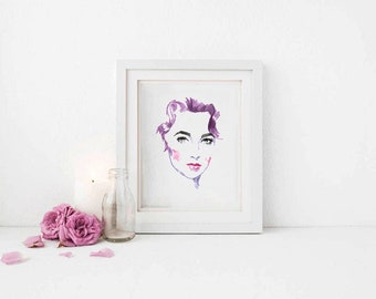 Printable Wall Art Elizabeth Taylor instant download