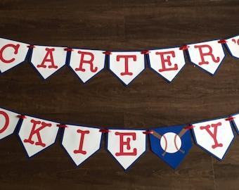 Rookie Year birthday banner, First birthday banner, baseball birthday banner, baseball banner, Birthday banner, 1st Birthday banner