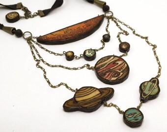 Solar System Necklace - Handmade & Eco-friendly