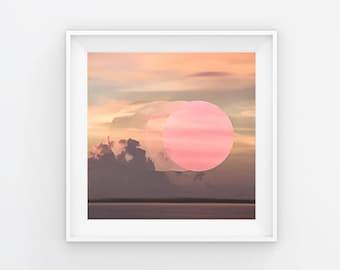 Sunrise Circles Photography Print