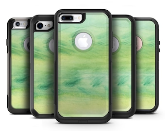 Green 321 Absorbed Watercolor Texture - OtterBox Case Skin-Kit for the iPhone, Galaxy & More